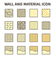 Wall and material icon vector image vector image