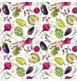 watercolor vegetable pattern vector image vector image