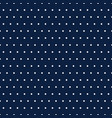 white polka dots on blue background vector image vector image