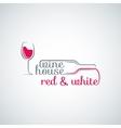 wine glass bottle background vector image vector image