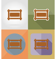 wooden board flat icons 04 vector image vector image