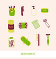 zero waste products flat set vector image