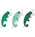 cute chameleons vector image