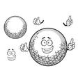 White golf ball cartoon character vector image