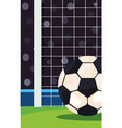 a classic black and white soccer ball vector image vector image