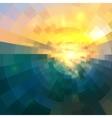 Abstract blue and yellow circle technology mosaic vector image vector image