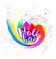 abstract happy holi festival background vector image vector image