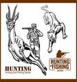 african safari hunting retro poster vector image vector image