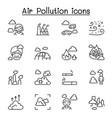 air pollution virus crisis covid-19 corona virus vector image vector image