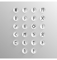 Alphabet Old Norse rune vector image vector image