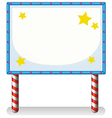 An empty frame banner with stars vector image vector image