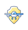 aviation safety rgb color icon vector image
