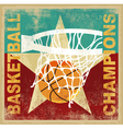 basketball champion vector image vector image