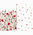 beautiful seamless floral pattern set flower vector image vector image