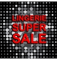 Big sale poster with LINGERIE SUPER SALE text vector image vector image