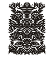 black decorative floral pattern vector image vector image