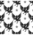 black unicorn and stars seamless pattern vector image vector image