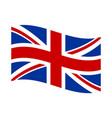 british flag waving banner poster vector image vector image