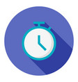 business deadline flat icon modern style vector image