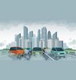 cars air pollution polluted air environment vector image