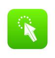 click icon digital green vector image vector image
