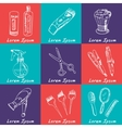 Collection of hand drawn Tools for make-up and vector image
