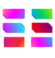 colorful spectrum paper labels templates vector image vector image
