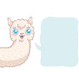 cute alpaca with bubble vector image