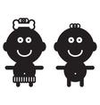 Cute simple children - vector image