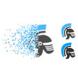 damaged dotted halftone rome helmet icon vector image