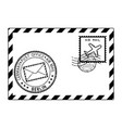 envelope black icon with postmarks berlin vector image