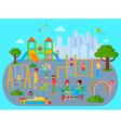 flat children playground composition vector image