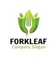 Fork Leaf Design vector image vector image