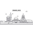 france nice architecture line skyline vector image vector image