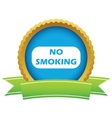 Gold no smoking logo vector image vector image