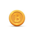 golden coin bitcoin sign symbol cryptocurrency vector image vector image