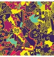 Graffiti colorful seamless pattern vector image