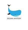 Graphic blue whale isolated on white background vector image vector image
