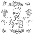 greeting card mother day style design vector image vector image
