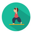 human doing yoga warrior pose icon vector image vector image