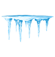 Icicles Cluster vector image vector image