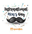 international men s day vector image vector image