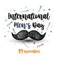 international men s day vector image