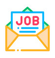 job message list mail in envelope icon vector image
