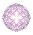 lace shape ornament vector image