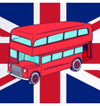 london bus with uk flag vector image vector image