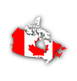 Map and flag of Canada vector image