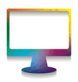 monitor with brush sign colorful icon vector image vector image