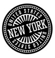 new york black and white badge vector image vector image