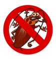 no cockroaches sign vector image vector image